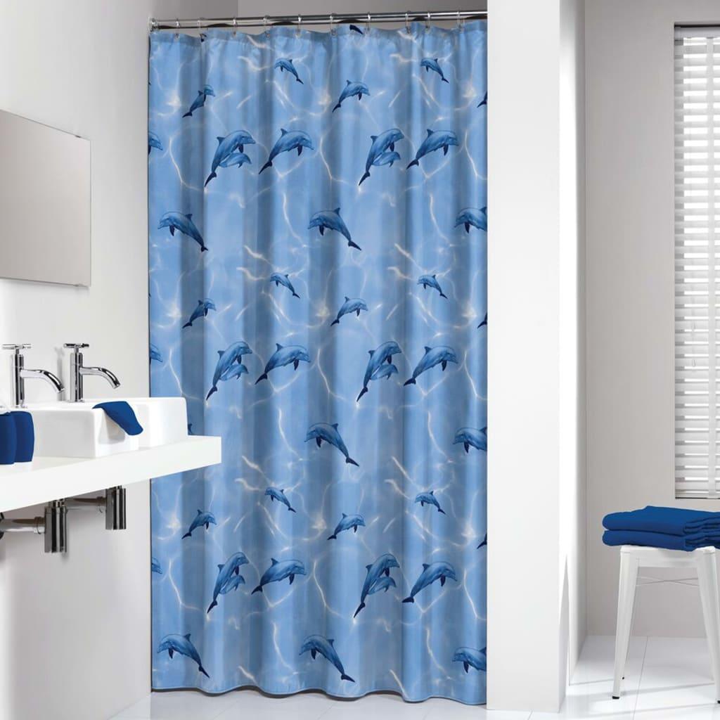 Sealskin badeforhæng Delfino 180x200 cm blå