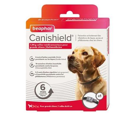Canishield, 1,04 g collier médicamenteux pour grands chiens - deltam�