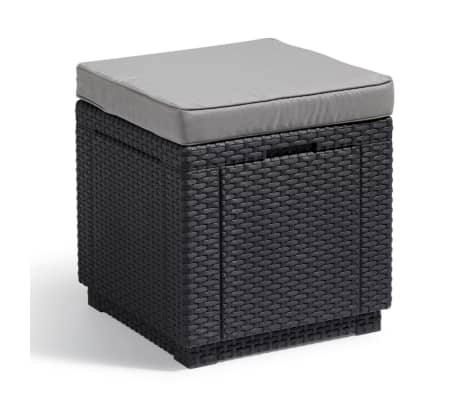 Allibert Cube Förvaringspuff grafit 213785[1/5]