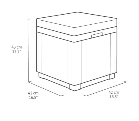 Allibert Cube Förvaringspuff grafit 213785[5/5]