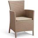 Allibert Chaise de salle à manger de jardin Iowa Cappuccino 215519