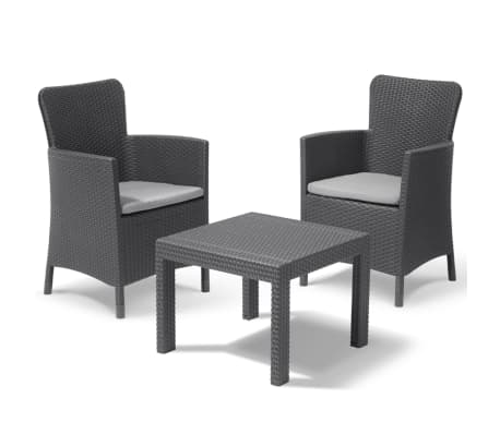 allibert garten balkon bistro set 3 tlg salvador. Black Bedroom Furniture Sets. Home Design Ideas