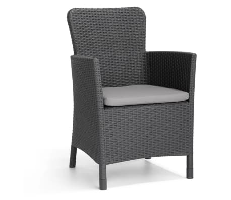 allibert garten balkon bistro set 3 tlg salvador graphitgrau 221307 g nstig kaufen. Black Bedroom Furniture Sets. Home Design Ideas