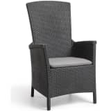 Allibert Chaise inclinable de jardin Vermont Graphite 238452