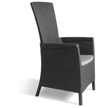 Allibert Chaise inclinable de jardin Vermont Graphite 238452[4/14]