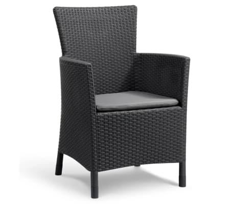 allibert garten balkon bistro set 3 tlg iowa graphitgrau 223929 g nstig kaufen. Black Bedroom Furniture Sets. Home Design Ideas