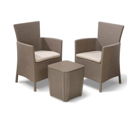 allibert garten balkon bistro set 3 tlg iowa cappuccino g nstig kaufen. Black Bedroom Furniture Sets. Home Design Ideas