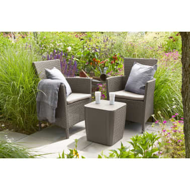 allibert garten balkon bistro set 3 tlg iowa cappuccino g nstig kaufen. Black Bedroom Furniture Sets. Home Design Ideas