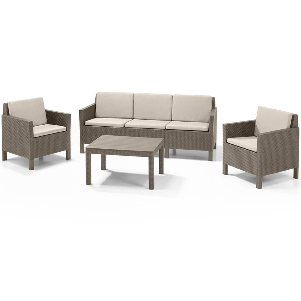 Afbeelding van Allibert Loungeset Chicago cappuccino 14-delig 226529