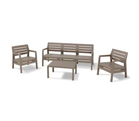 acheter allibert mobilier de jardin 4 pcs delano. Black Bedroom Furniture Sets. Home Design Ideas