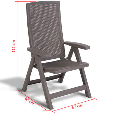 Superb Allibert Reclining Garden Chair Montreal Cappuccino 223476 Ocoug Best Dining Table And Chair Ideas Images Ocougorg