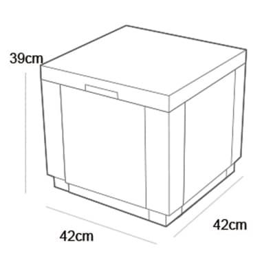 Allibert Chladiaci box, farba cappuccino 223761[4/4]