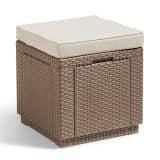 Allibert Cube Skladovacia taburetka, kapučínová 228096