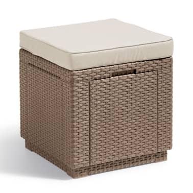 Allibert Cube Skladovacia taburetka, kapučínová 228096[1/3]