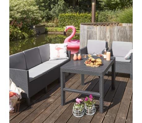 Acheter allibert table de jardin lyon graphite 232300 pas cher - Table jardin oogarden lyon ...