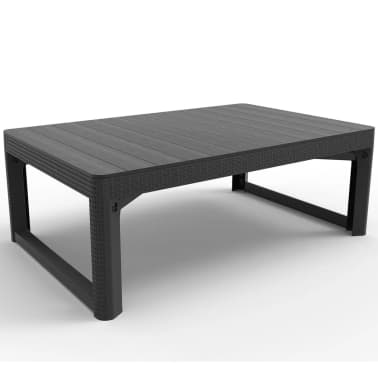 allibert table de jardin lyon graphite 232300. Black Bedroom Furniture Sets. Home Design Ideas
