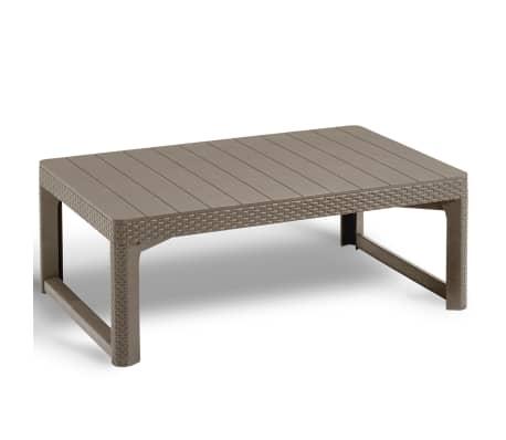 acheter allibert table de jardin lyon cappuccino 232296 pas cher. Black Bedroom Furniture Sets. Home Design Ideas