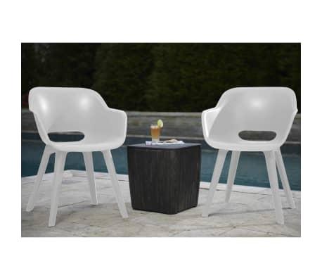 Miraculous Details About Allibert 2X Outdoor Chairs Akola White Garden Patio Dining Stackable Seat Camellatalisay Diy Chair Ideas Camellatalisaycom