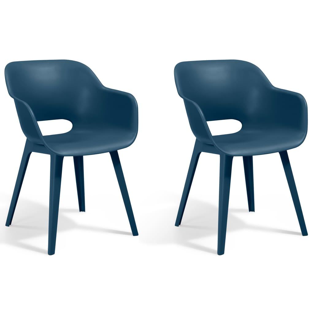Allibert Καρέκλες Εξωτερικού Χώρου Akola 2 τεμ. Μπλε Πετρόλ