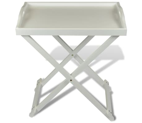 Acheter Homestyle Table Dappoint En Mdf Pliable Blanche Pas Cher