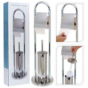 Porta Carta Igienica Acciaio.Bathroom Solutions Porta Carta Igienica Scopino Acciaio Inox Argento