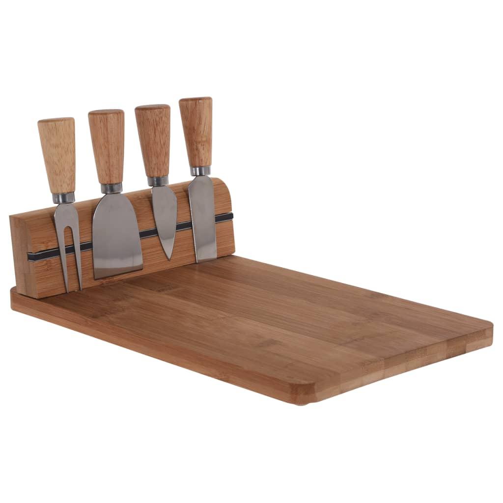Excellent Houseware Suport cuțit brânză cu fund de bambus vidaxl.ro