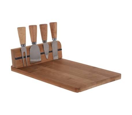 Excellent Houseware Käsemesser-Ständer mit Schneidebrett aus Bambus[1/2]