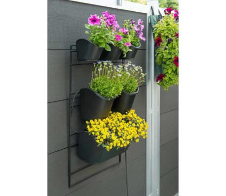 Acheter nature jardini re verticale 48 x 84 cm noir pas - Jardiniere verticale ...