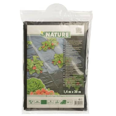Nature Feuille de paillis pour fraises 1,4 x 20 m 6030231[4/4]