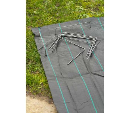 Nature Befestigungsanker für Bodengewebe 20 Stk. 25x20 cm Metall 6030391[2/4]