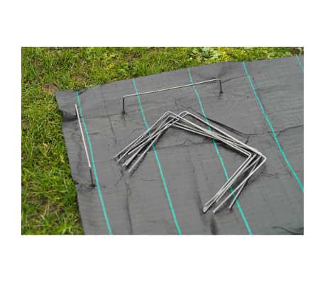 Nature Befestigungsanker für Bodengewebe 20 Stk. 25x20 cm Metall 6030391[3/4]