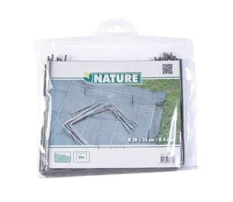 Nature Befestigungsanker für Bodengewebe 20 Stk. 25x20 cm Metall 6030391[4/4]