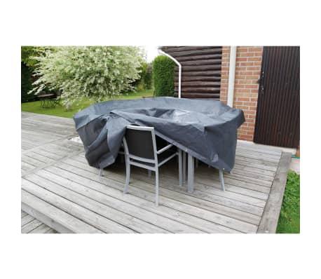 nature gartenm bel abdeckung 90 x 205 cm pe dunkelgrau 6030600 g nstig kaufen. Black Bedroom Furniture Sets. Home Design Ideas