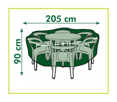 Husă pentru mobilier de grădină 603060 Nature 90 x 205 cm, gri închis[3/3]