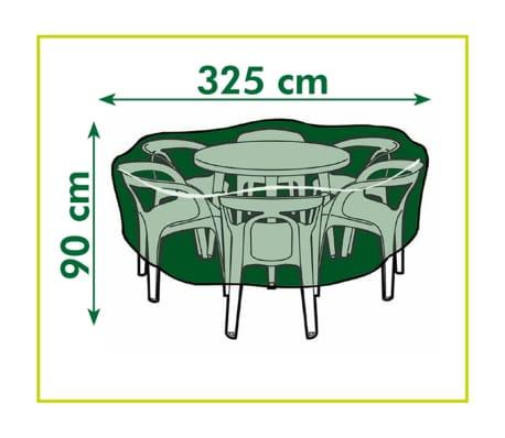 Nature Sodo baldų uždangalas 90 x 325 cm PE tamsiai pilkas, 6030601[3/3]