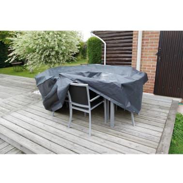 Nature Husă mobilier grădină 90x225x143 cm PE gri închis 6030602[2/3]
