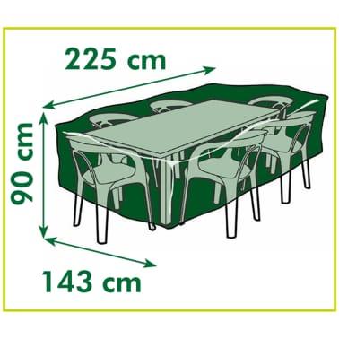 Nature Husă mobilier grădină 90x225x143 cm PE gri închis 6030602[3/3]