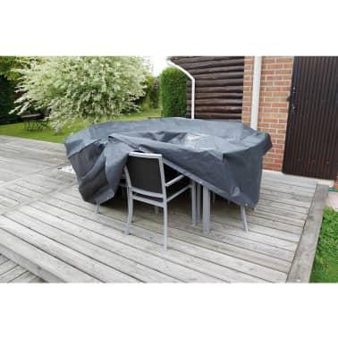 Nature Husă mobilier grădină 90x325x205 cm PE gri închis 6030603[2/3]