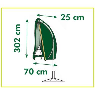 housse en pe gris fonc pour parasol d port 302x25x70cm. Black Bedroom Furniture Sets. Home Design Ideas