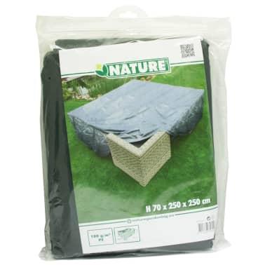 Nature Husă mobilier de grădină, 250 x 250 x 70 cm, gri, PE, 6031602[3/4]