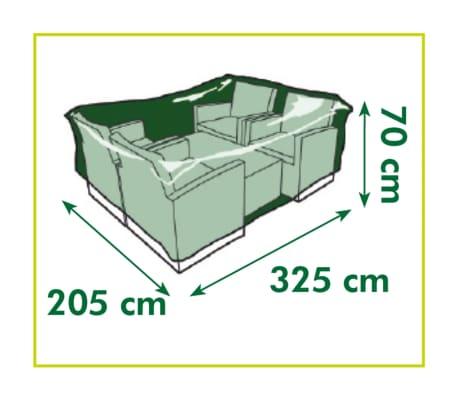 Nature Housse de meubles de jardin pour table et chaises 325x205x70 cm[4/4]