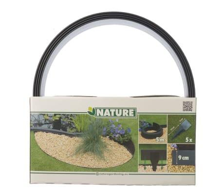 Nature obrzeża trawnikowe 500x9 cm czarne 6040607[11/11]