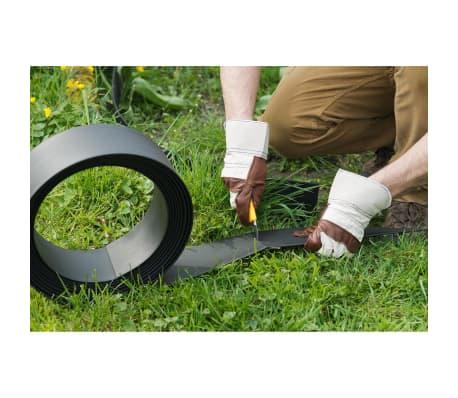 Nature obrzeża trawnikowe 500x9 cm czarne 6040607[5/11]