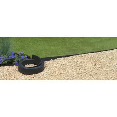 Nature obrzeża trawnikowe 500x9 cm czarne 6040607[8/11]