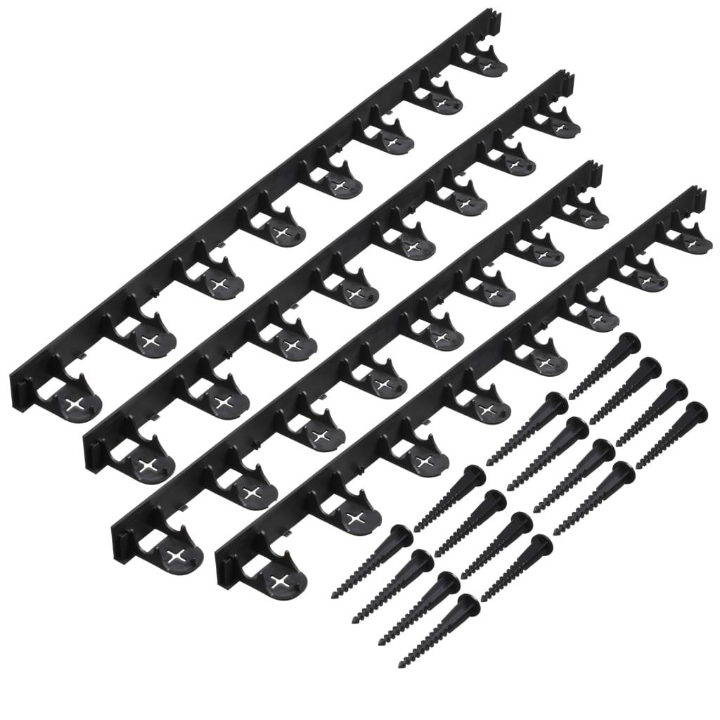 Nature Margine bordură de grădină și țăruși de fixare, negru imagine vidaxl.ro