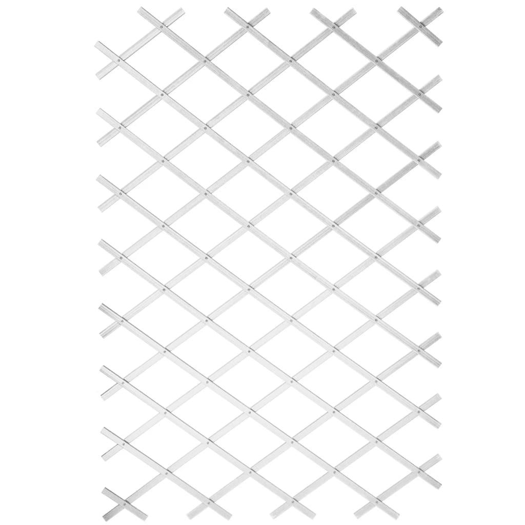 Nature Gard de grădină tip Trellis, 50 x 150 cm PVC, alb, 6040701 vidaxl.ro