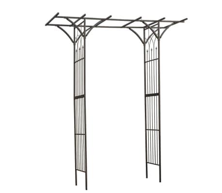 Nature Arco para jardín de metal negro 114x66x232 cm