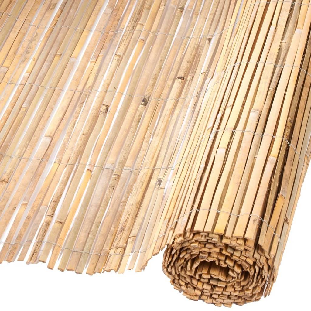 Nature Zahradní plot z bambusu 2 x 5 m přírodní 6050122