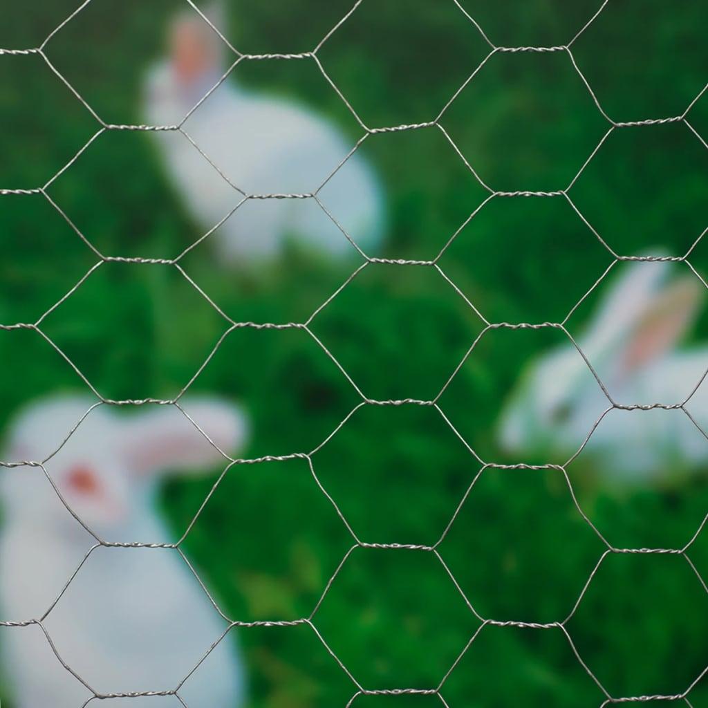 Nature Tuinhek kippengaas grijs 0,5x2,5 m 6050215