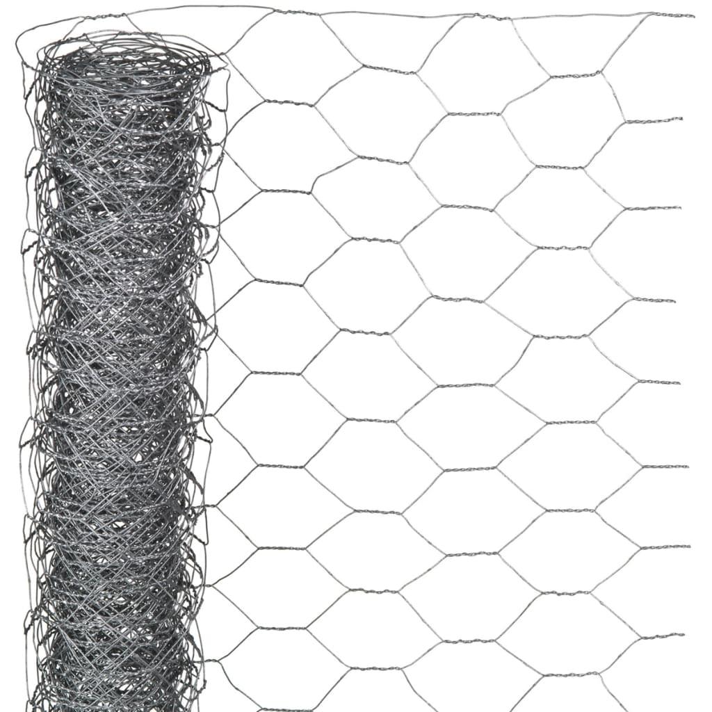 Nature Plotové pletivo šestiúhelníkové 0,5x10 m 25 mm pozinkovaná ocel